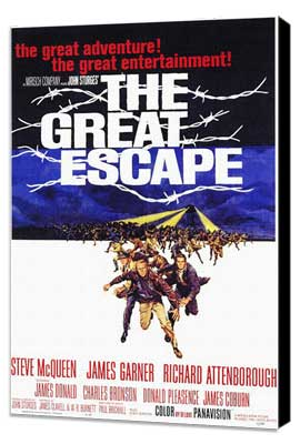The Great Escape - 11 x 17 Movie Poster - Style A - Museum Wrapped Canvas