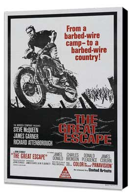 The Great Escape - 11 x 17 Movie Poster - Australian Style A - Museum Wrapped Canvas