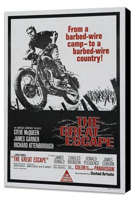 The Great Escape - 27 x 40 Movie Poster - Australian Style A - Museum Wrapped Canvas