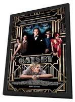 The Great Gatsby 3D - 27 x 40 Movie Poster - Style A - in Deluxe Wood Frame