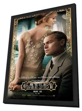 The Great Gatsby 3D - 11 x 17 Movie Poster - Style B - in Deluxe Wood Frame