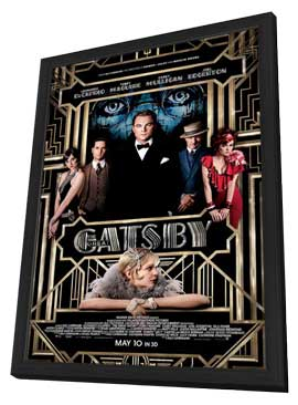 The Great Gatsby 3D - 11 x 17 Movie Poster - Style A - in Deluxe Wood Frame