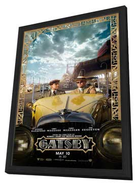 The Great Gatsby 3D - 27 x 40 Movie Poster - Style C - in Deluxe Wood Frame