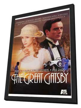 The Great Gatsby - 27 x 40 Movie Poster - Style A - in Deluxe Wood Frame