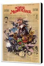 The Great Muppet Caper - 27 x 40 Movie Poster - Style A - Museum Wrapped Canvas