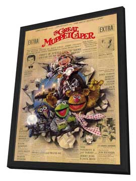 The Great Muppet Caper - 11 x 17 Movie Poster - Style A - in Deluxe Wood Frame