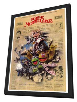 The Great Muppet Caper - 27 x 40 Movie Poster - Style A - in Deluxe Wood Frame