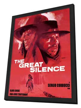Great Silence, The - 11 x 17 Movie Poster - Style A - in Deluxe Wood Frame