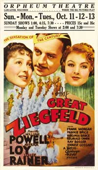 The Great Ziegfeld - 11 x 17 Movie Poster - Style C