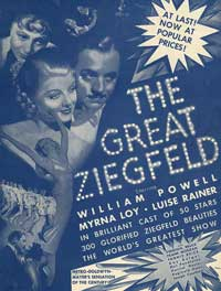 The Great Ziegfeld - 27 x 40 Movie Poster - Style E