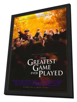 The Greatest Game Ever Played - 27 x 40 Movie Poster - Style A - in Deluxe Wood Frame