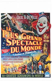 The Greatest Show on Earth - 14 x 22 Movie Poster - Belgian Style A