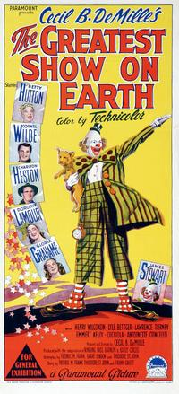 The Greatest Show on Earth - 14 x 36 Movie Poster - Australian Style A