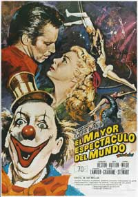 The Greatest Show on Earth - 27 x 40 Movie Poster - Spanish Style B