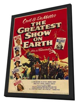 The Greatest Show on Earth - 11 x 17 Movie Poster - Style B - in Deluxe Wood Frame