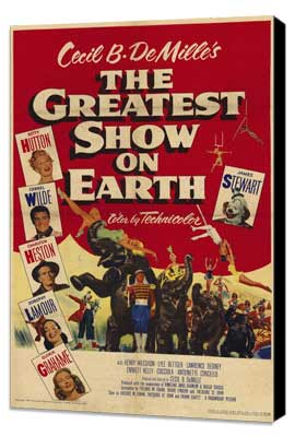 The Greatest Show on Earth - 11 x 17 Movie Poster - Style B - Museum Wrapped Canvas