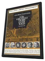 The Greatest Story Ever Told - 11 x 17 Movie Poster - Style B - in Deluxe Wood Frame