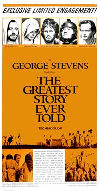 The Greatest Story Ever Told - 20 x 40 Movie Poster - Style A
