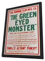 The Green-Eyed Monster - 11 x 17 Movie Poster - Style A - in Deluxe Wood Frame