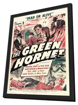 The Green Hornet - 11 x 17 Movie Poster - Style B - in Deluxe Wood Frame