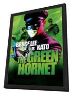 The Green Hornet - 27 x 40 Movie Poster - UK Style A - in Deluxe Wood Frame