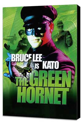 The Green Hornet - 27 x 40 Movie Poster - UK Style A - Museum Wrapped Canvas