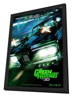 The Green Hornet - 27 x 40 Movie Poster - Style B - in Deluxe Wood Frame