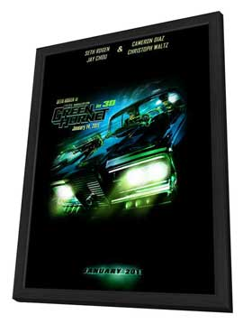 The Green Hornet - 11 x 17 Movie Poster - Style A - in Deluxe Wood Frame