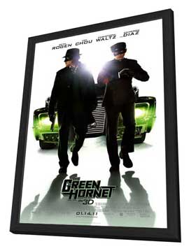 The Green Hornet - 27 x 40 Movie Poster - Style F - in Deluxe Wood Frame