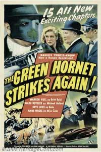 The Green Hornet Strikes AgainGreen Hornet Strikes Again - 11 x 17 Movie Poster - Style D