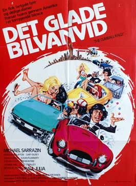 Gumball Rally - 27 x 40 Movie Poster - Danish Style A