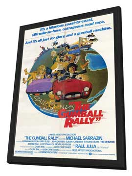 Gumball Rally - 11 x 17 Movie Poster - Style A - in Deluxe Wood Frame