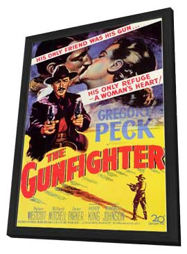 The Gunfighter - 11 x 17 Movie Poster - Style A - in Deluxe Wood Frame