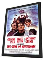 The Guns of Navarone - 27 x 40 Movie Poster - Style A - in Deluxe Wood Frame