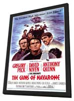 The Guns of Navarone - 11 x 17 Movie Poster - Style A - in Deluxe Wood Frame