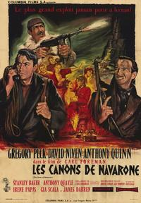 The Guns of Navarone - 11 x 17 Movie Poster - French Style A