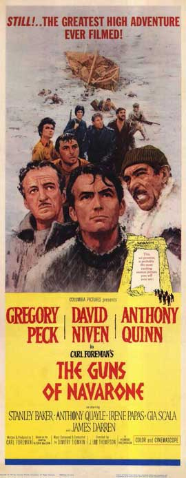 The Guns of Navarone - 14 x 36 Movie Poster - Insert Style A