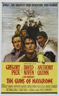 The Guns of Navarone - 27 x 40 Movie Poster - Style B