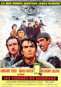The Guns of Navarone - 27 x 40 Movie Poster - Spanish Style B