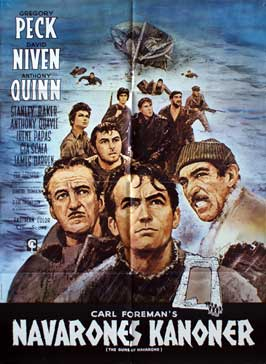 The Guns of Navarone - 27 x 40 Movie Poster - Danish Style A