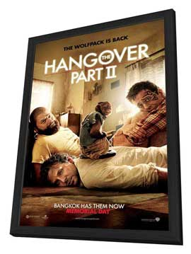 The Hangover 2 - 11 x 17 Movie Poster - Style A - in Deluxe Wood Frame
