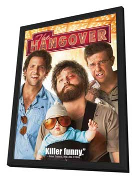 The Hangover - 27 x 40 Movie Poster - Style B - in Deluxe Wood Frame