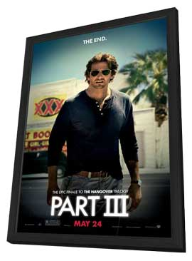 The Hangover Part III - 27 x 40 Movie Poster - Style C - in Deluxe Wood Frame