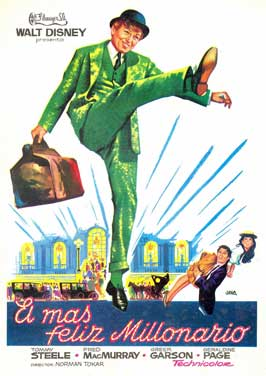 The Happiest Millionaire - 11 x 17 Movie Poster - Spanish Style A