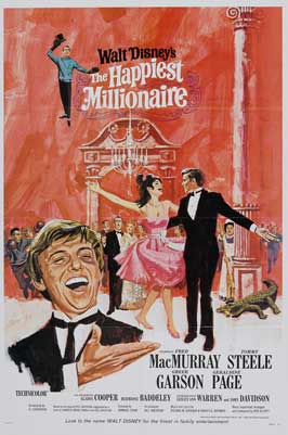 The Happiest Millionaire - 27 x 40 Movie Poster - Style B