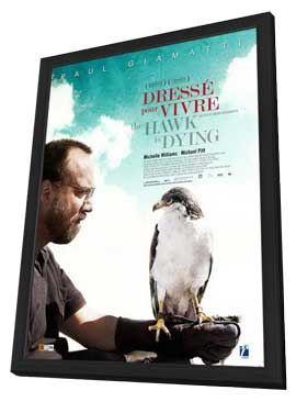 The Hawk Is Dying - 11 x 17 Movie Poster - French Style A - in Deluxe Wood Frame