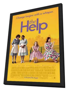 The Help - 27 x 40 Movie Poster - Style A - in Deluxe Wood Frame