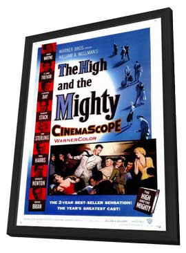 The High and the Mighty - 27 x 40 Movie Poster - Style A - in Deluxe Wood Frame