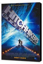 The Hitchhiker's Guide to the Galaxy - 27 x 40 Movie Poster - Style A - Museum Wrapped Canvas