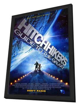 The Hitchhiker's Guide to the Galaxy - 11 x 17 Movie Poster - Style A - in Deluxe Wood Frame
